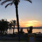 Tramonto, Mar Rosso, Golfo di Aqaba, Giordania