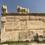 Leoni di Pietra, Cornicione, Rovine Archeologiche Palazzo, Qasr Al Abd, Giordania