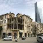 Casa fori di proiettile e grattacielo, Beirut, Libano