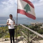 Bandiera Libanese, Rovine archeologiche fenicie, Byblos Jbeil, Libano