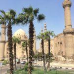 Moschea e Madrasa del Sultano Hassan e Moschea di Ar Rifai, Cairo, Palme, Cupole e Minareti, Egitto