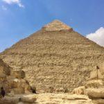 Parco Archeologico di Giza, Deserto e Piramide di Cheope, Cairo, Egitto
