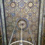 Tetto Decorato in Oro e Lapislazzuli, Moschea di Al Muizz Street, Khan al Khalili, Cairo Islamica, Egitto