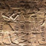 Bassorilievo di Alessandro Magno Faraone, tempio di Luxor, Karnak, Egitto
